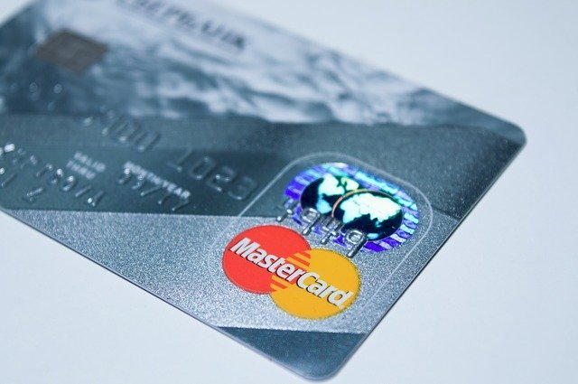 Master Card plastic card.