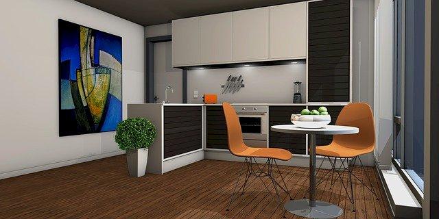 Virtual tour of the kitchen.