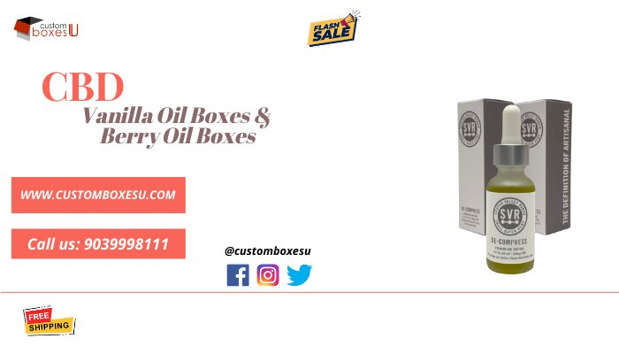 CBD Vanilla oil and Berry oil packaging in custom design and shapes