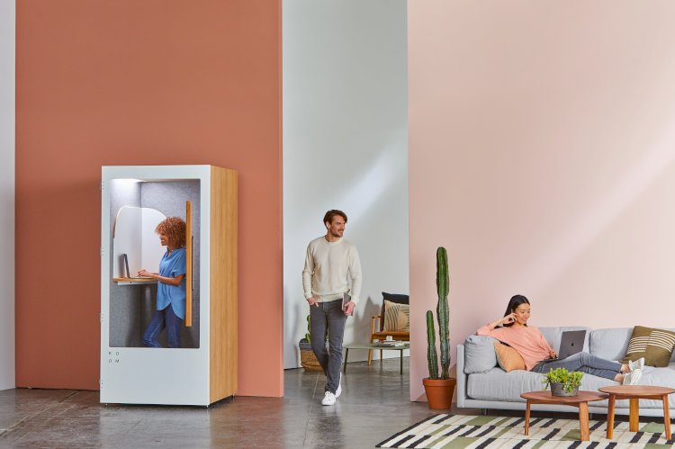 A room with pastel walls