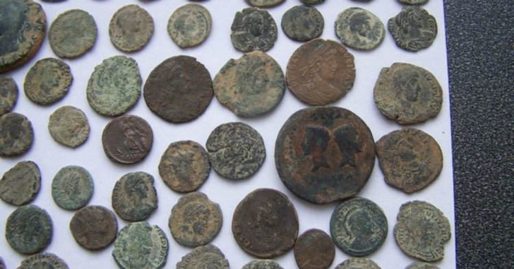 How do you find the worth of the ancient coins?